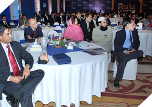 Attendees at the 4th International Mobile Commerce Conference at Sheraton Hotel, Karachi.