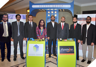 Mr. Adeel (Account Manager), Mr. Umair (Sales Executive), Mr. Farzan (Account Manager), Ms. Sunniya (Account Manager), Mr. Navaid (Asst Manager), Mr. Faisal (Business Manager), Mr. Haseeb (Account Manager), Mr. Noman Ahmed (Creative Designer) at the Conference & Exhibition.
