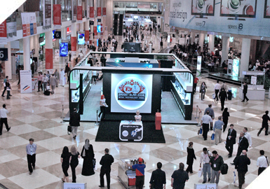 Guests at the Gitex Technology Week Exhibition 2011 in Dubai.