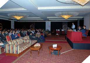 Attendees at the 8th International E-Banking Conference & Exhibition at Pearl Continental Hotel Karachi.