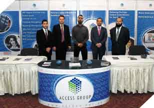 Mr. Hunaid (Sr. Marketing Executive), Mr. Farzan (Account Manager E-Payments), Mr. Noman Ahmed (Creative Designer), Mr. Adeel Suhail (Account Manager CRM), Mr. Kaiser (Business Manager M-Banking) at the Conference & Exhibition 2010.