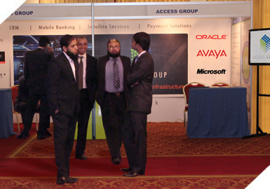 Mr. Mustafa (Siebel Business Analyst), Mr. Umair (Sales Executive), Mr. Noman (Creative Designer) present at the Exhibition.