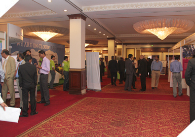 Guests at the 9th International E-Banking Conference & Exhibition 2011 at Pearl Continental Hotel.