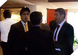 Mr. Imran Qureshi (President Access Group) speaking to guests at Mobile Banking Conference.