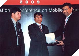 Mr. Owais Zaidi (COO) receiving an accolade for being Access Group the Main Sponsor for the 2nd international Mobile Banking Conference.