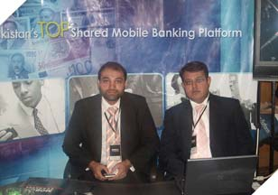 Mr. Faisal Qadri (Business Unit Manager - Communications) & Mr. Adnan Iqbal (Corporate Account Manager) present at the 2nd international Mobile Banking conference.