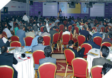 Attendees at the 3rd international Mobile Commerce Conference at Sheraton Hotel, Karachi.