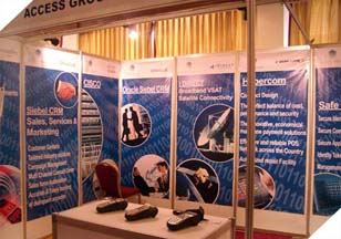 The Access Group Stall at 7th International E-Commerce conference and Exhibition, held at Pearl Continental, Karachi.